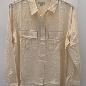 Rails silk snakeskin blouse